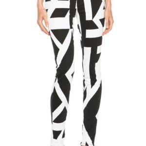 J Brand Stretchy Printed Jeans Black White Skinny